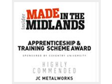 Made in the Midlands apprenticeship and training scheme award