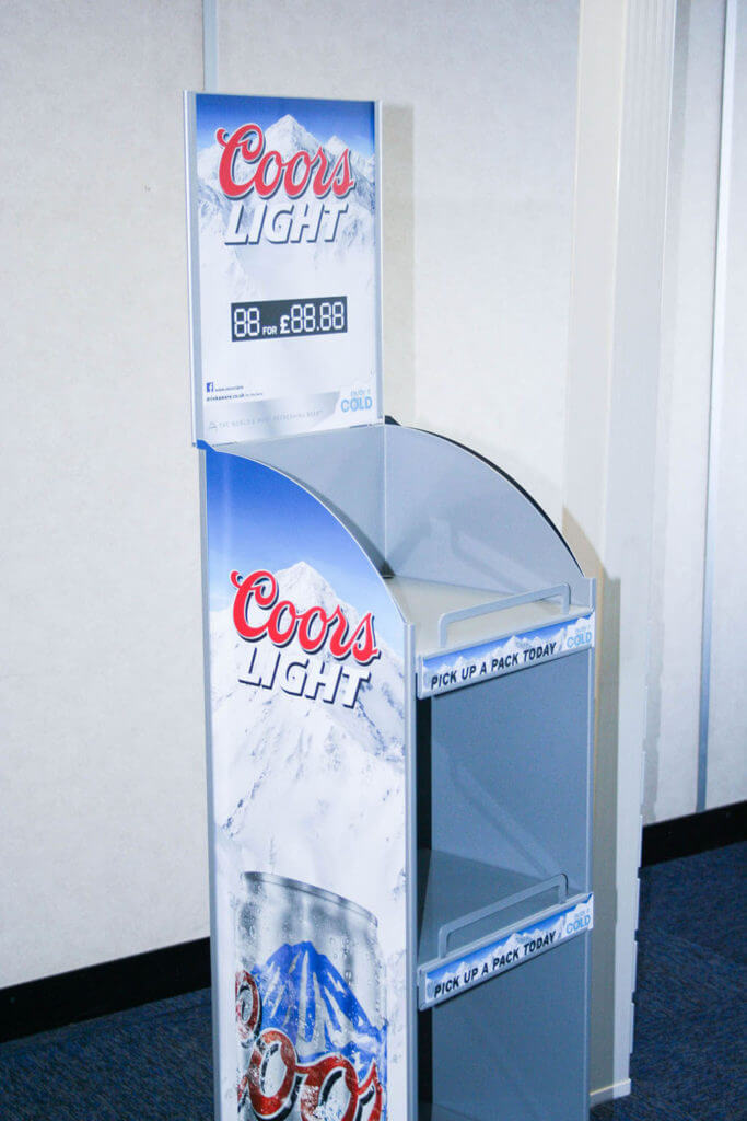 Point of Sale Stands - Bespoke POS Display Stand for Coors Light