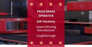 press brake operative job vacancy