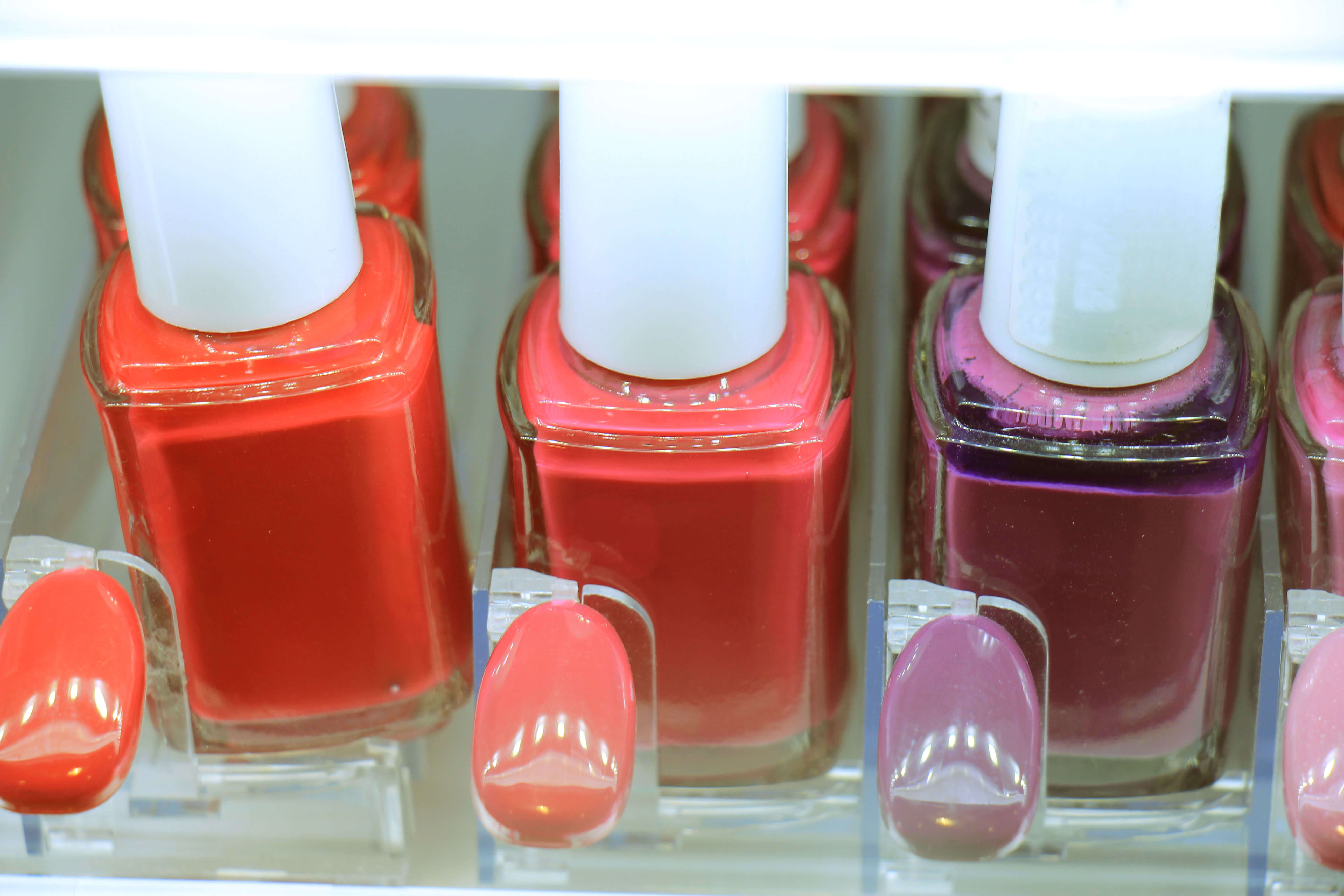 cosmetic display holders for nail varnish