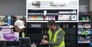 Logic Pro Freestanding Retail POS Display for JTI