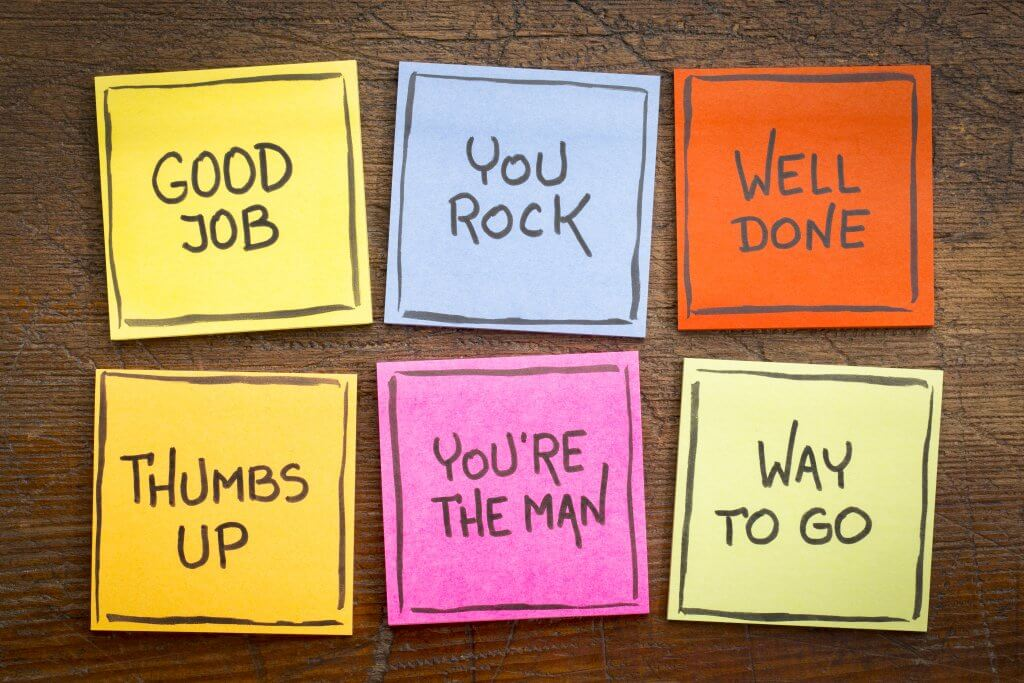 Well done post it notes