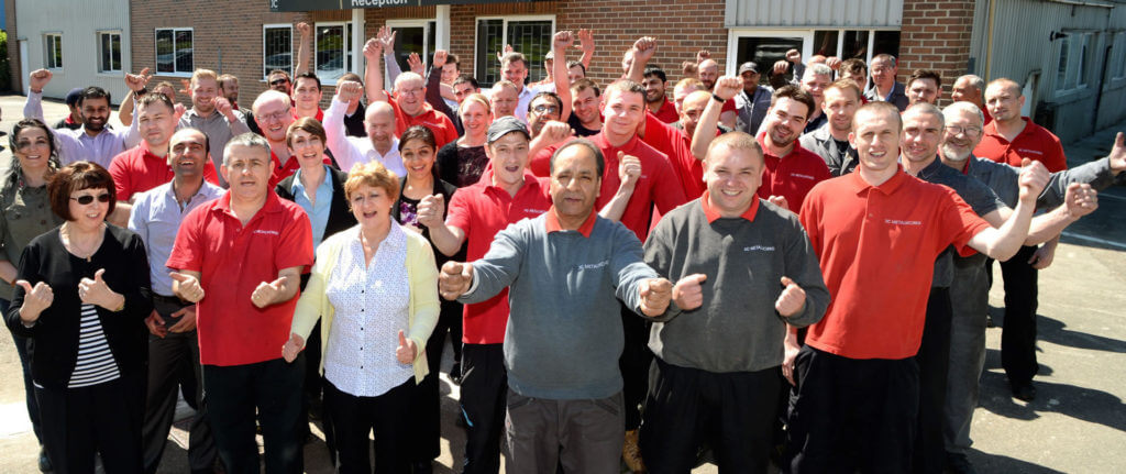 the precision manufacturing team at JC Metalworks, Loughborough