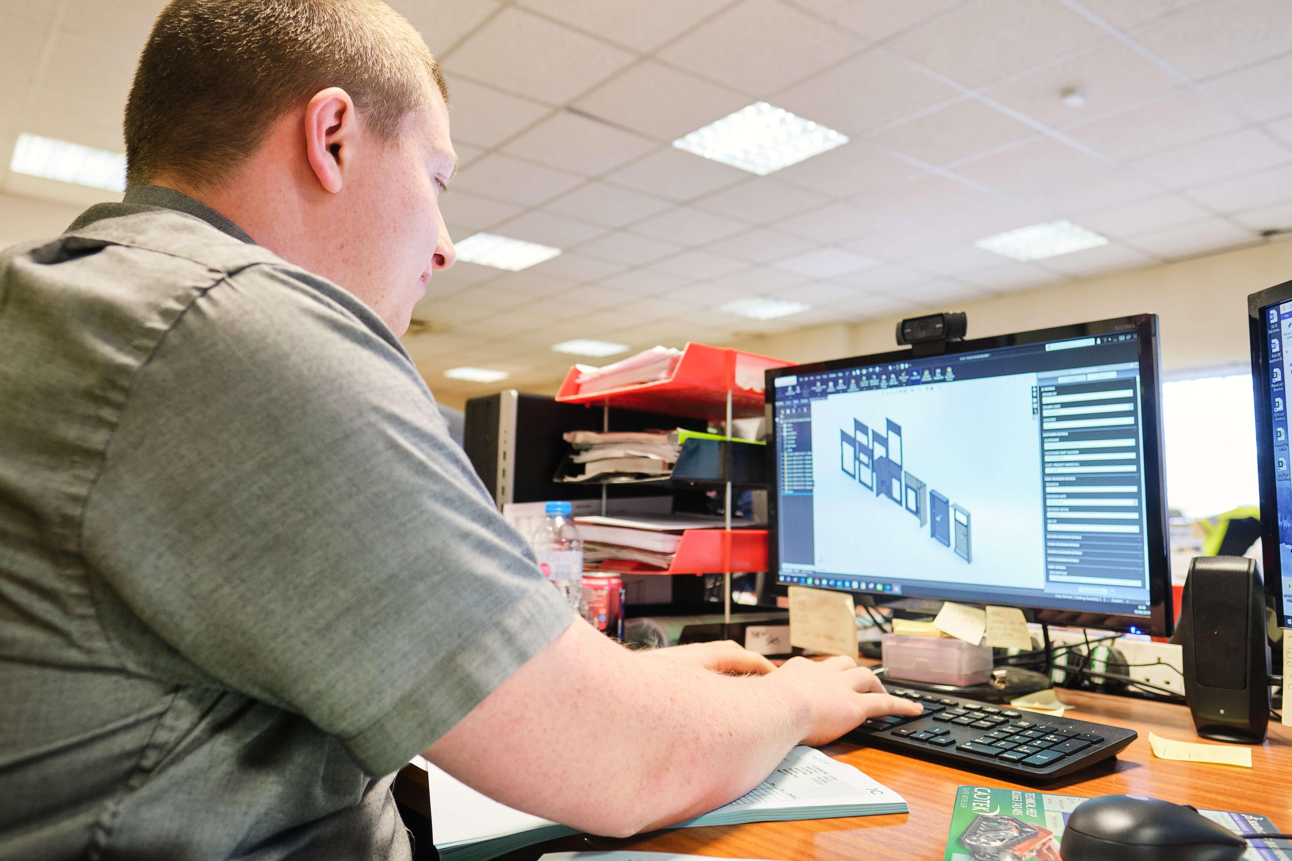Precision Engineers at work on Metal Works Designs - JC Metalworks UK