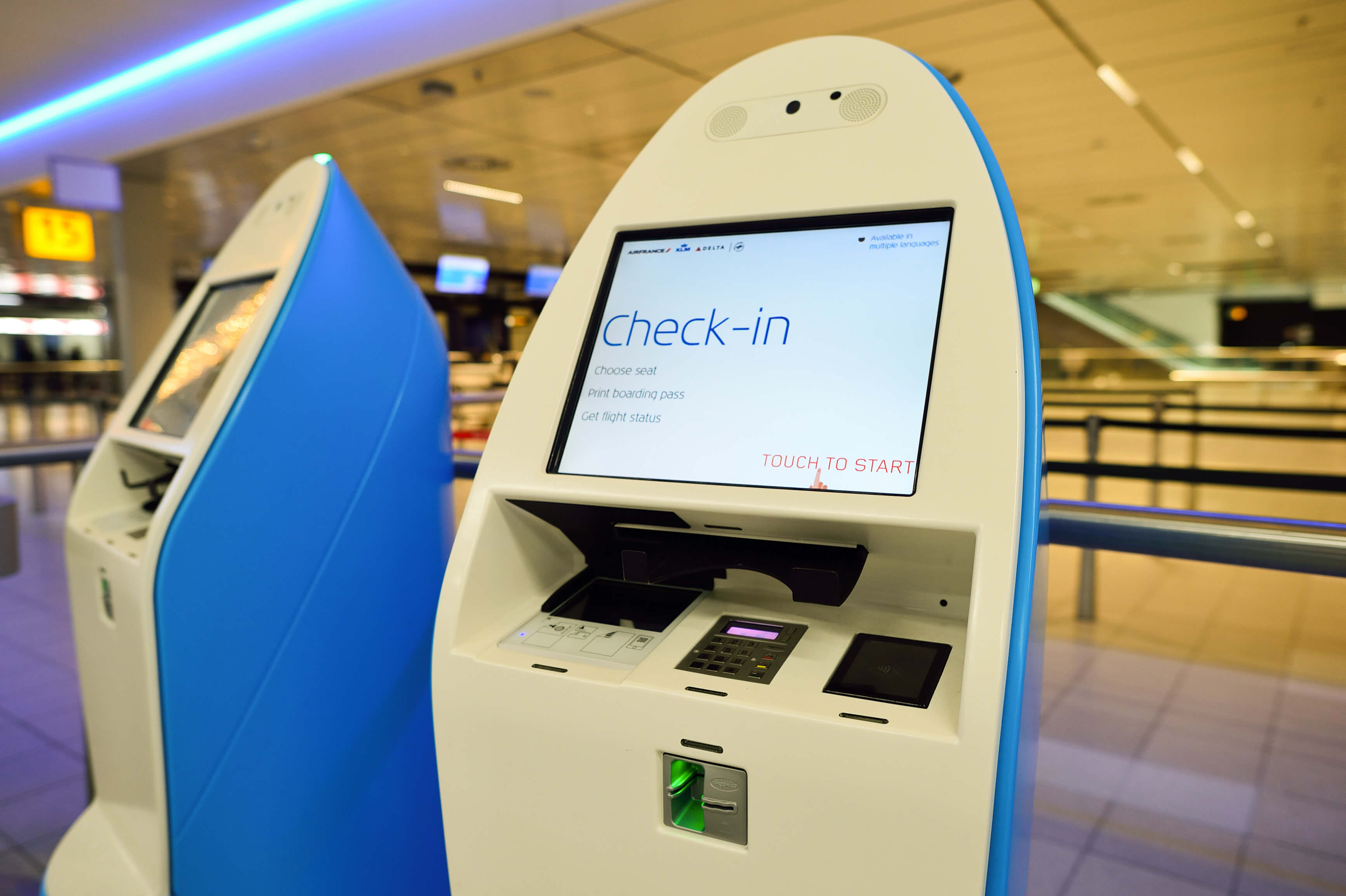 Touch Screen Self Service Airport Kiosk - JC Metalworks - Loughborough