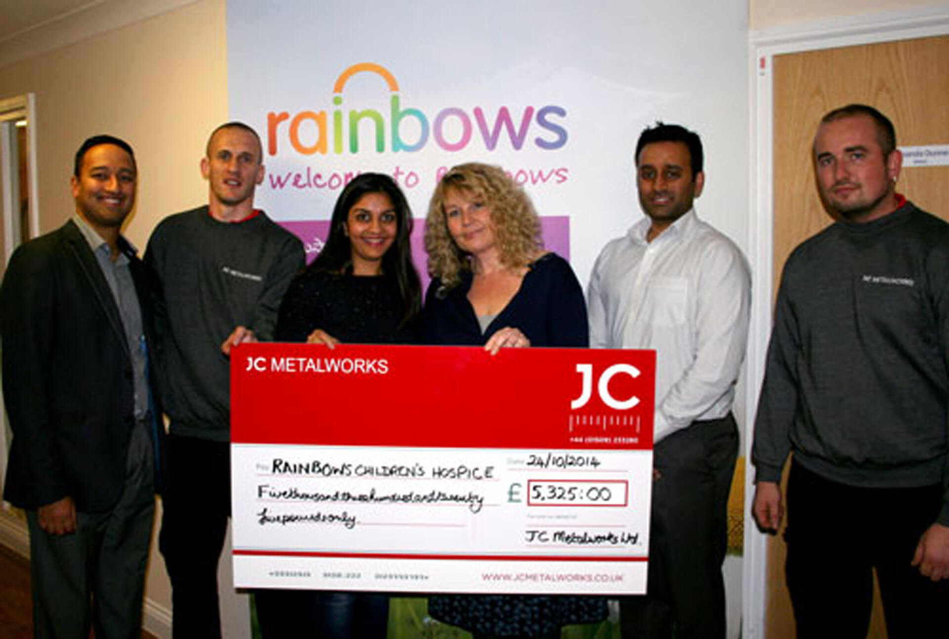 £5325.00 raised for Rainbows Hospice by JC Metalworks