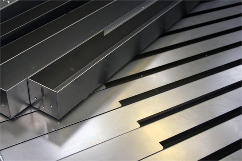 custom metal forming / metal bending sheet steel for a bespoke metal retail display unit