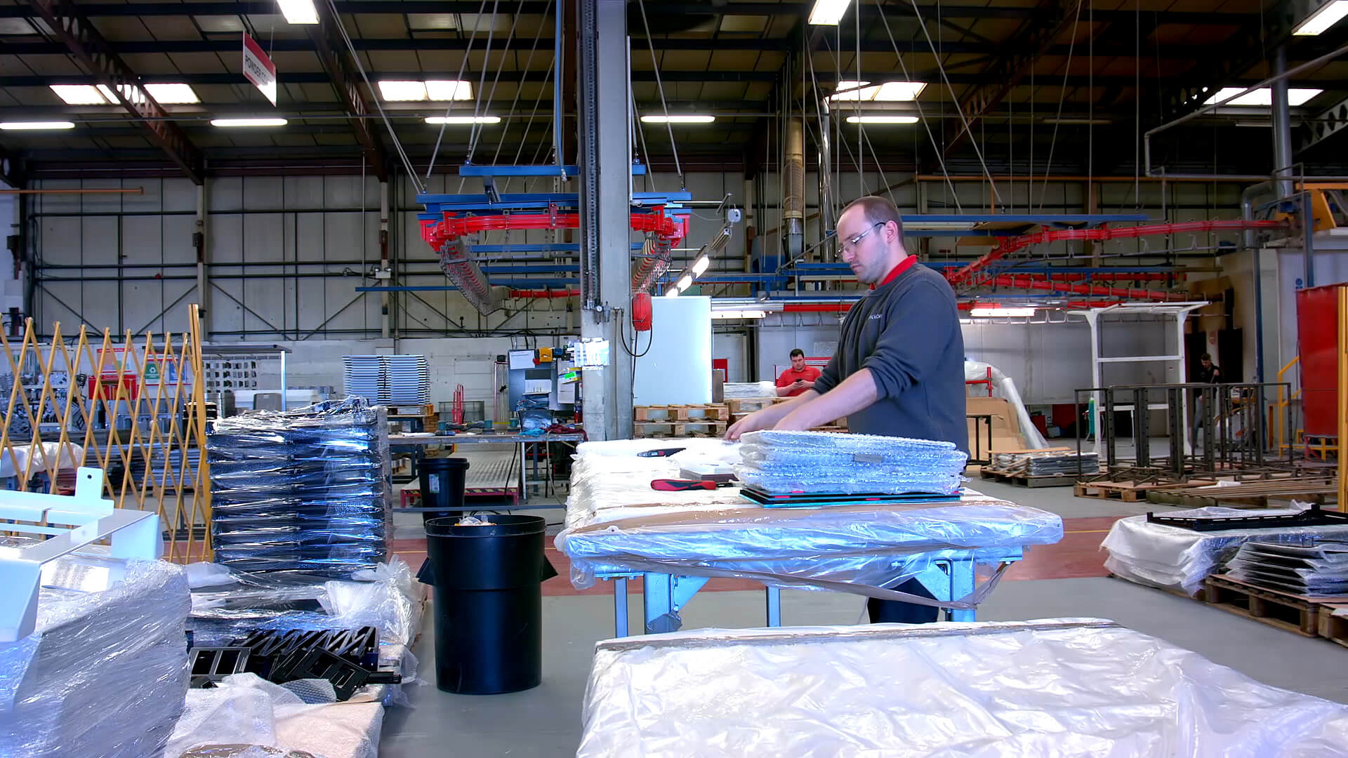 JC Metalworks product packing being carried out