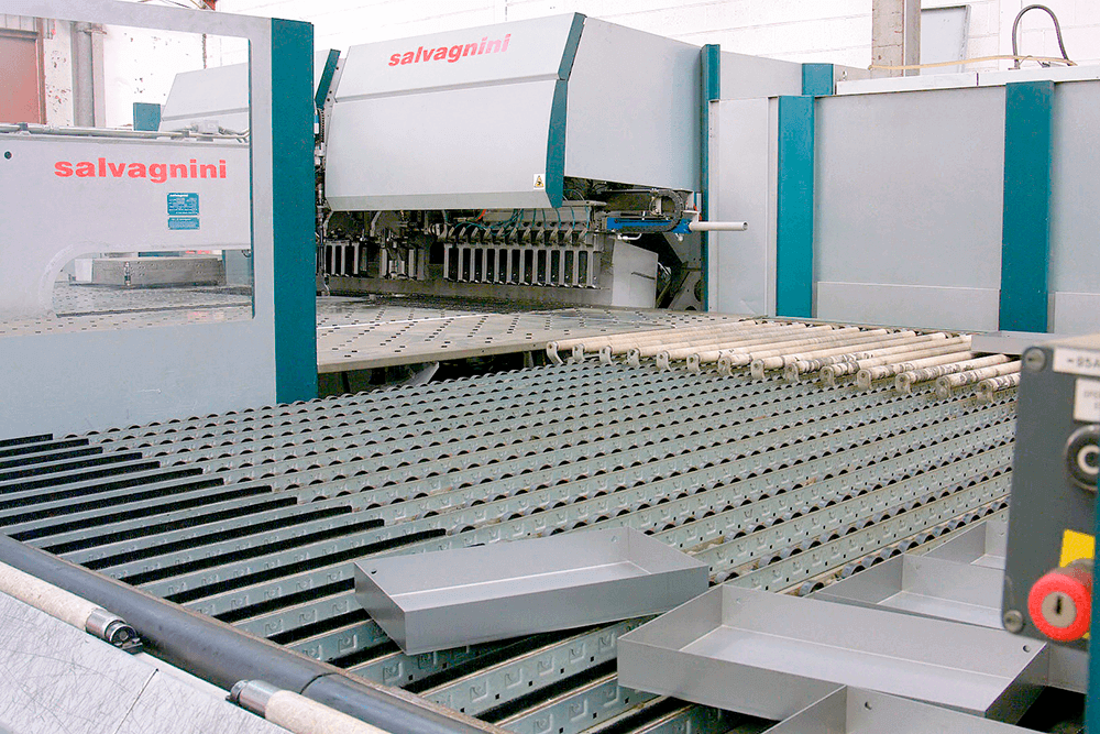 automated sheet steel pressing