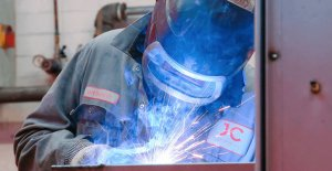 Worker doing different types of welding - JC Metalworks Loughborough
